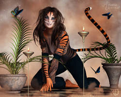 The Fanciful Tigress by RavenMoonDesigns