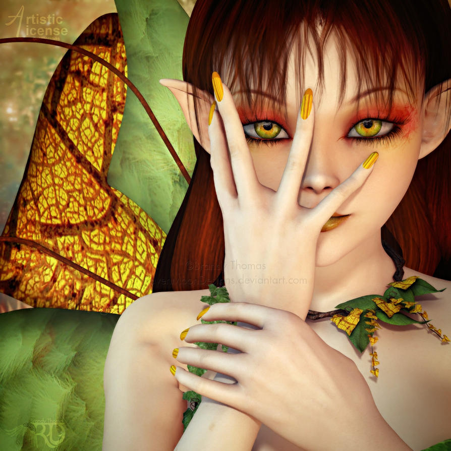 Feisty Fall Fae by RavenMoonDesigns