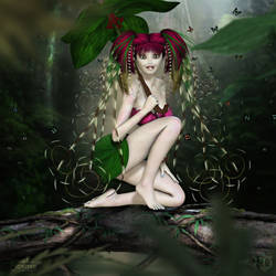 Pixie of the Peat Bog by RavenMoonDesigns