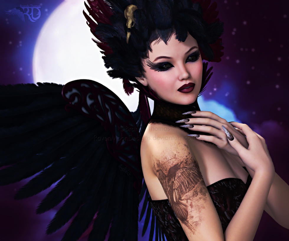 A Ravenesque Enchantress by RavenMoonDesigns