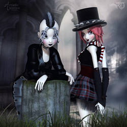 Punky Goths by RavenMoonDesigns