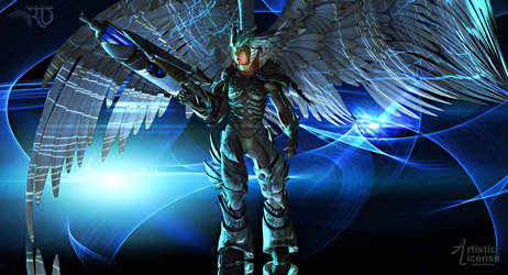 Angelic Warrior by RavenMoonDesigns