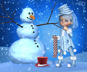 A Frosty Snowman by RavenMoonDesigns