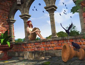 Fantasies of Mind (full scene) by RavenMoonDesigns