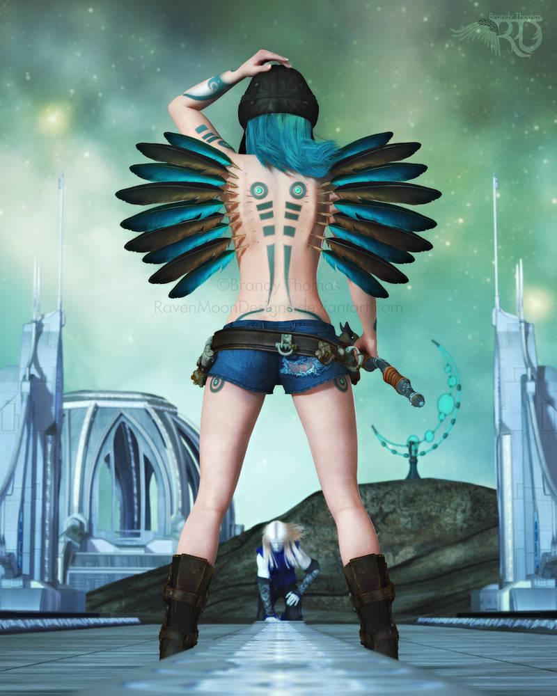 Angel In Blue Jeans by RavenMoonDesigns