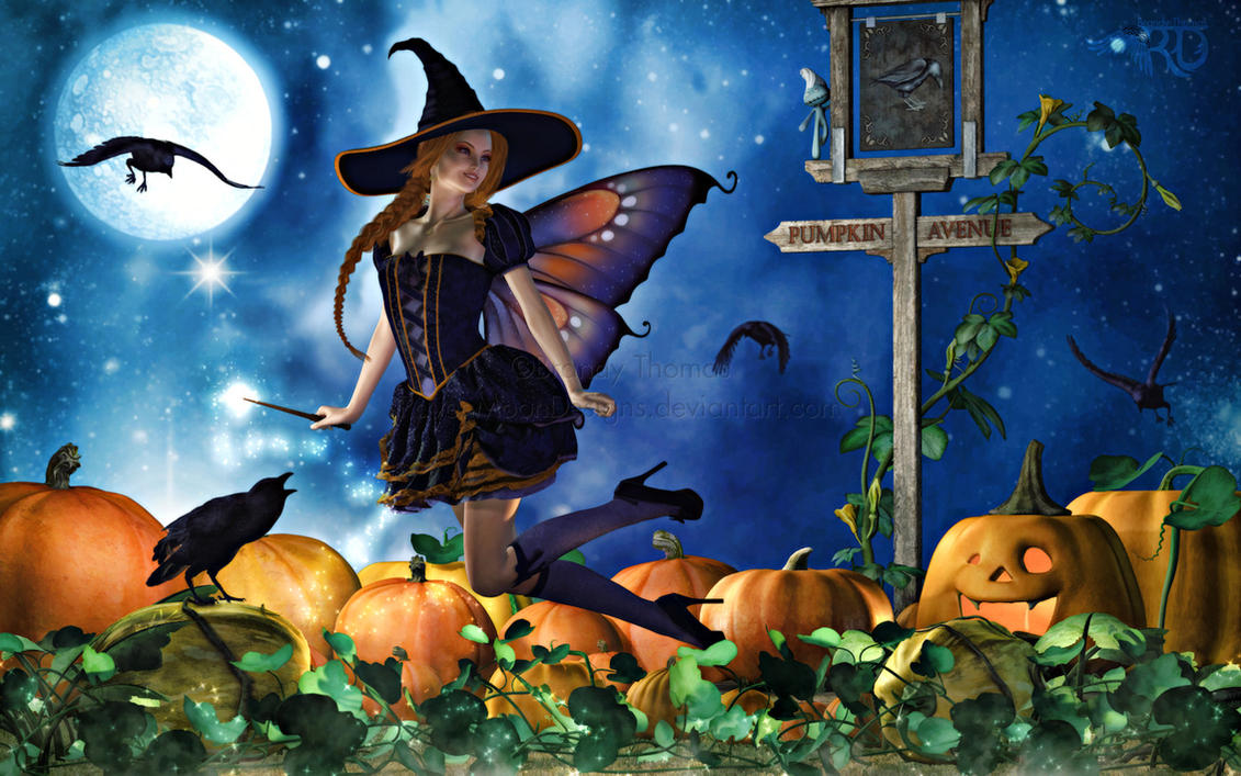 The Magic of Pumpkin Avenue by RavenMoonDesigns