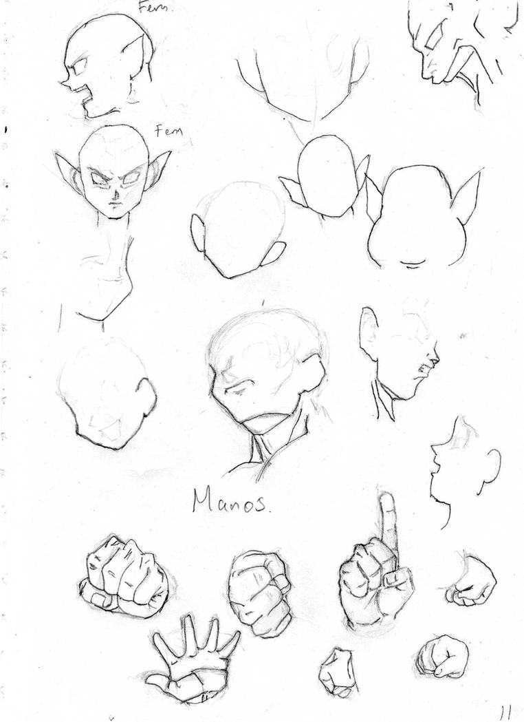cabezas femeninas y manos db by rasec-dragon-91 on DeviantArt
