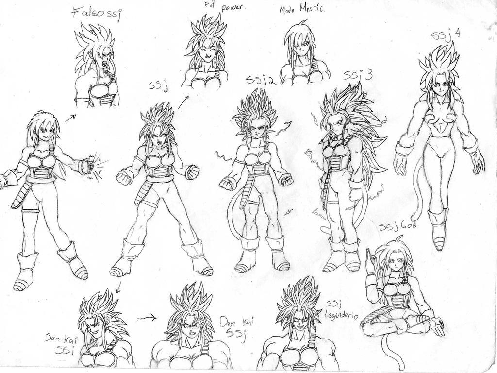 Imagenes Para Colorear Goku Fase 5 Biblioteca De: Chica Saiyan Transformaciones Ssj By Rasec-dragon-91 On