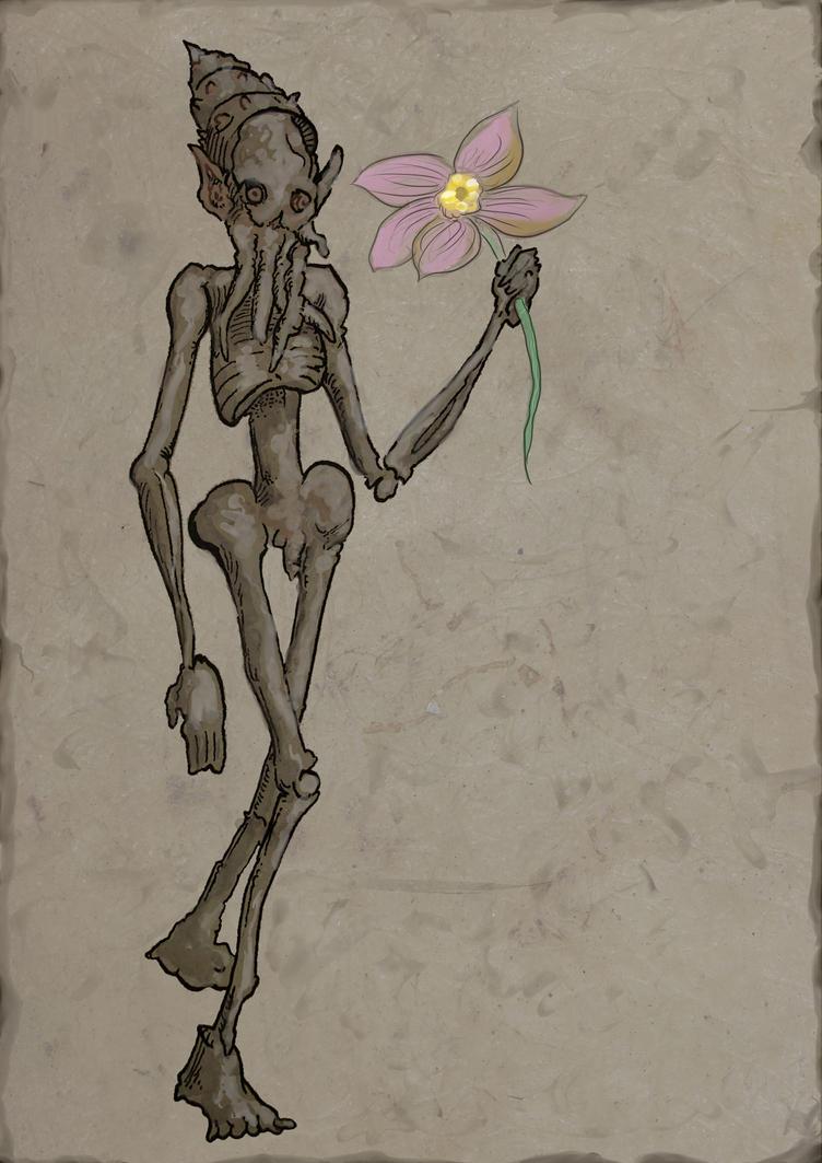 Magbhitu with Flower by magbhitu