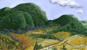 Summer Landscape by magbhitu