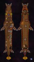SpellJammer LampreyShip