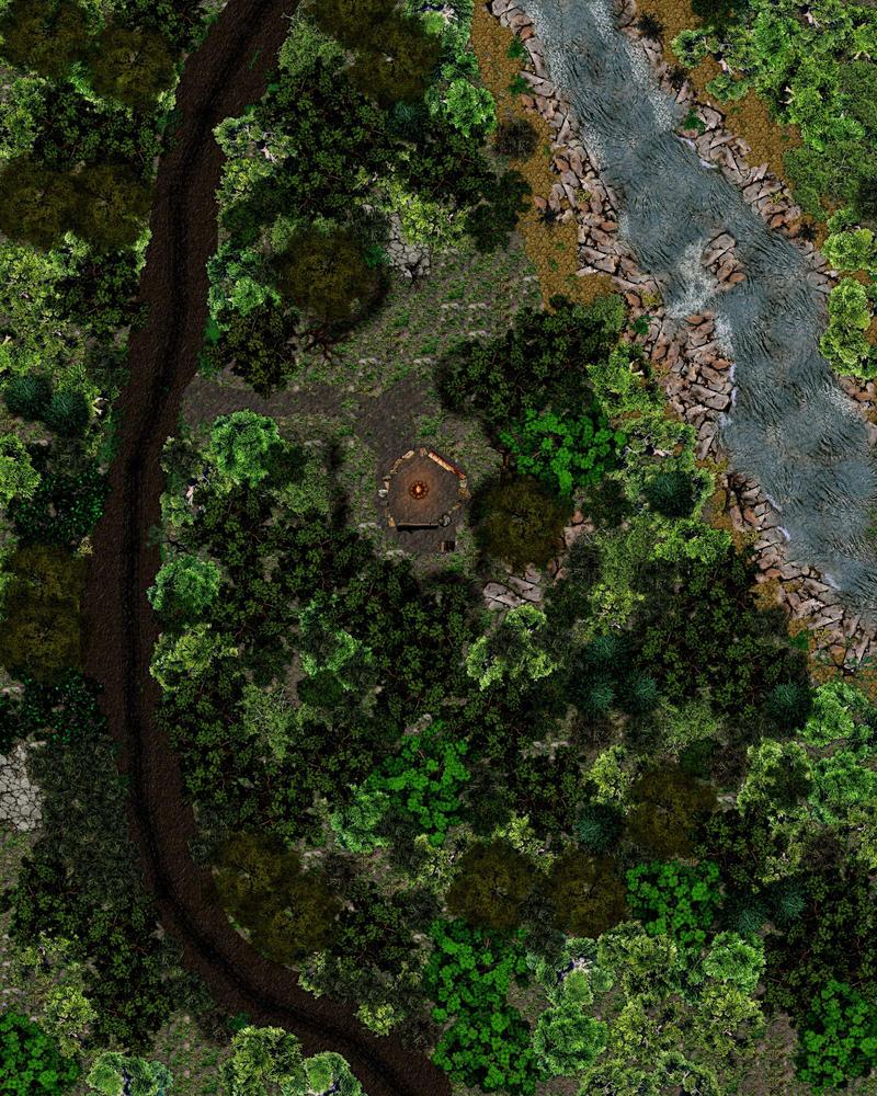 Campsite in the woods by Bogie-DJ
