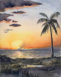 Hawaii at Dusk by KelliRoos