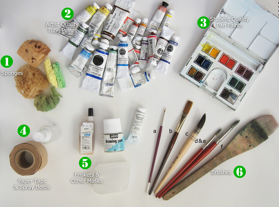 My Watercolor Tools by KelliRoos