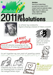 My 2011 Art Resolutions by KelliRoos