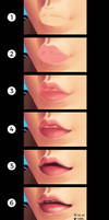 Painting the lips [step by step]