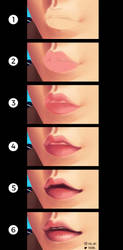 Painting the lips [step by step] by fox-bro