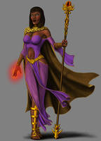 Stygian Sorceress by quellion