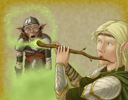 Dryad's Flute by quellion