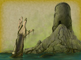 Swampy Moat by quellion