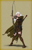Female Elf Archer by quellion