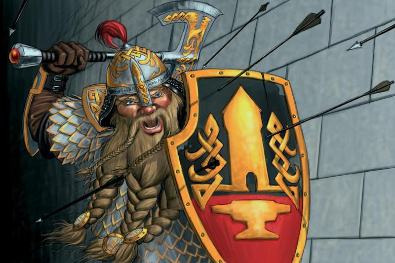 Dwarven Defender by quellion