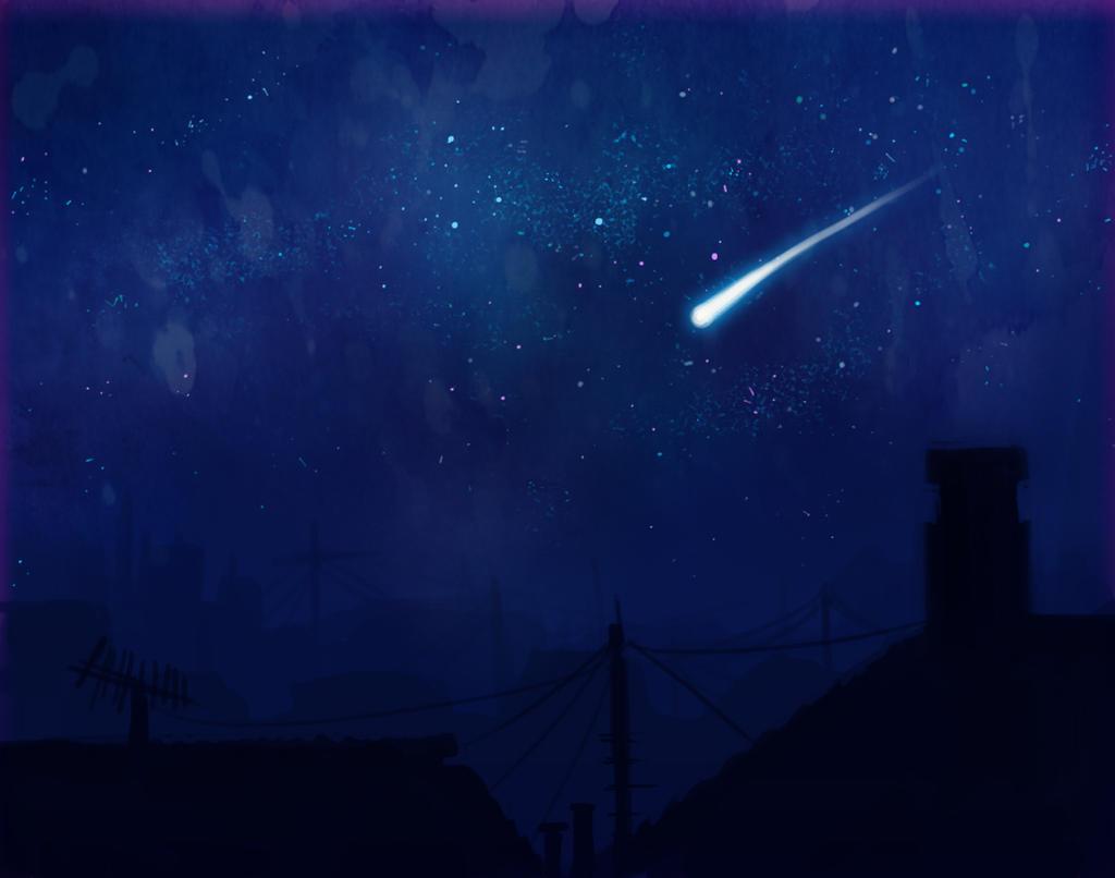 Shooting Stars - Night Sky by ZLynn on DeviantArt