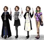 The Big Four: Rapunzel outfits