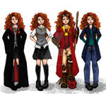The Big Four: Merida outfits