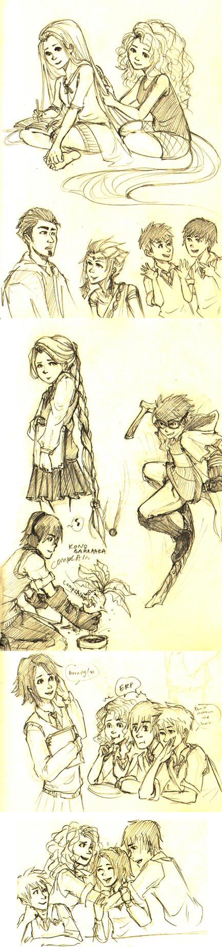 The Big Four: Sketch Dump 2 by ZLynn