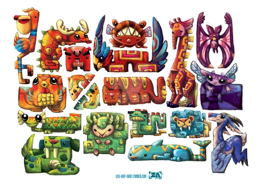 Merchandise: Strange Critters by ZLynn
