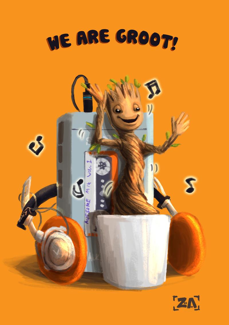Dancing Groot!