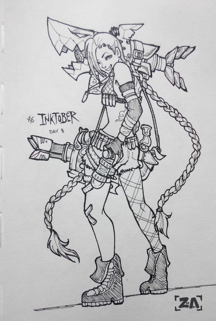 Inktober: Jinx by ZLynn