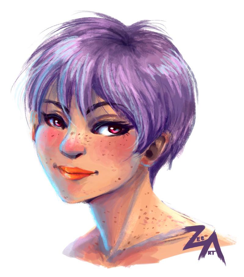 speedpaint: purple pixie by ZLynn