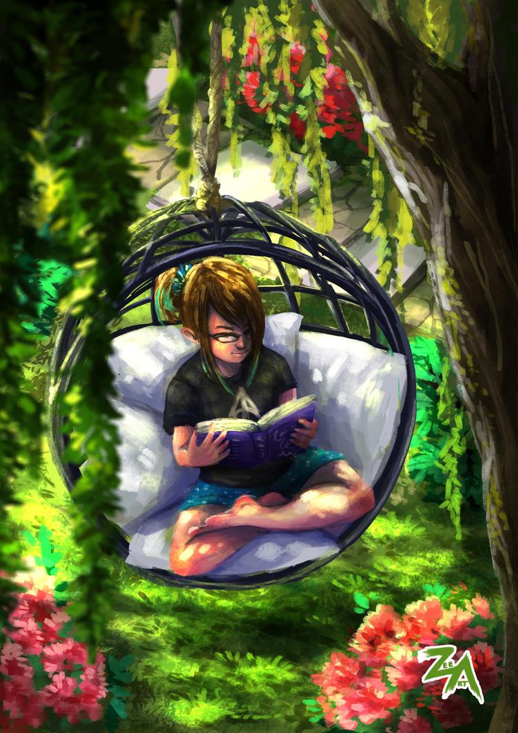 Reading: garden swing by ZLynn