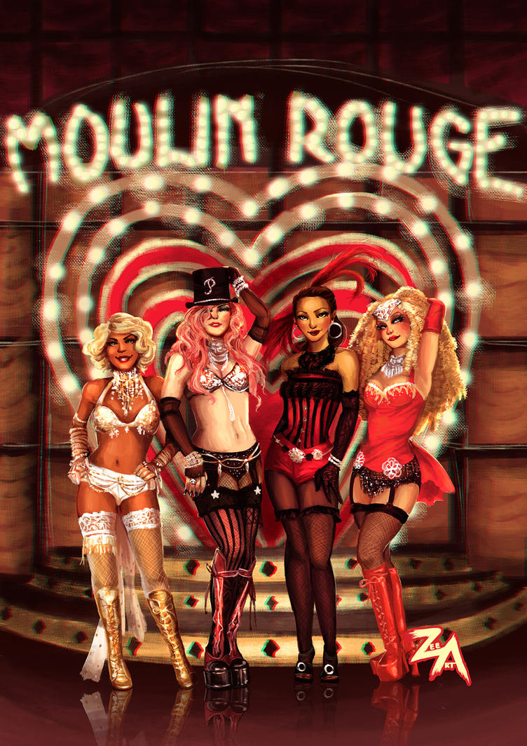 Four Badass Chicks from the Moulin Rouge by ZLynn