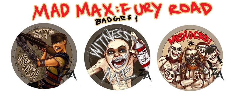 Mad Max Fury Road badges by ZLynn