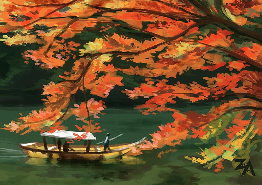 Speedpaint: Autumn Lake by ZLynn