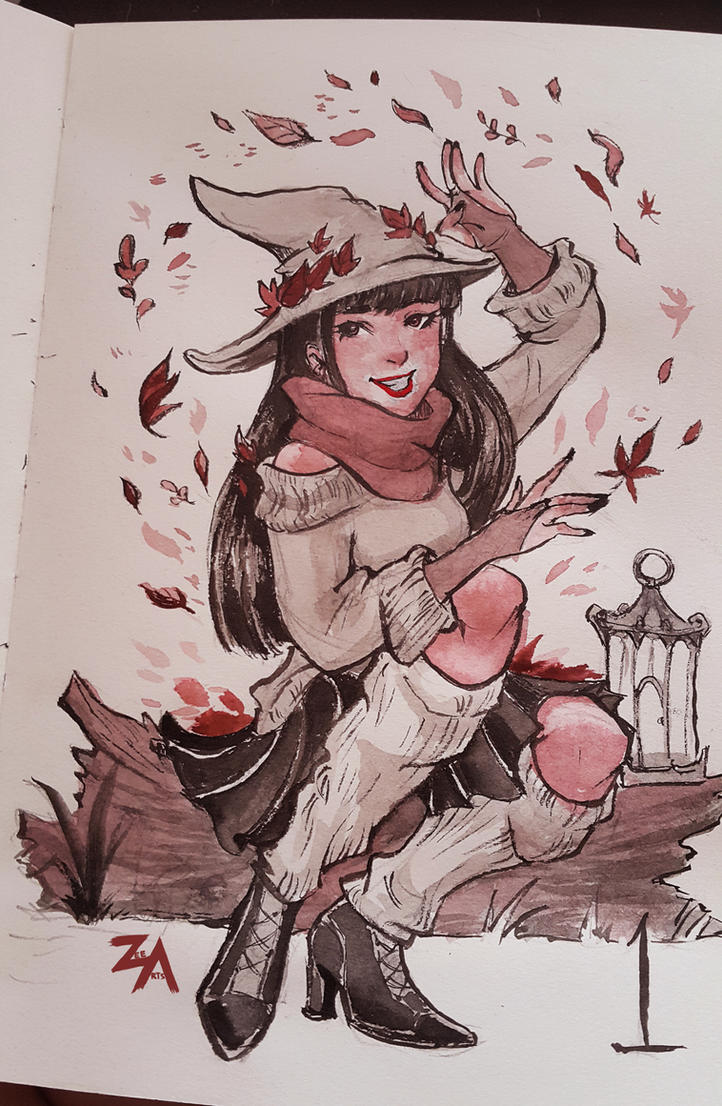 Day 1: Seasonal Witch by ZLynn