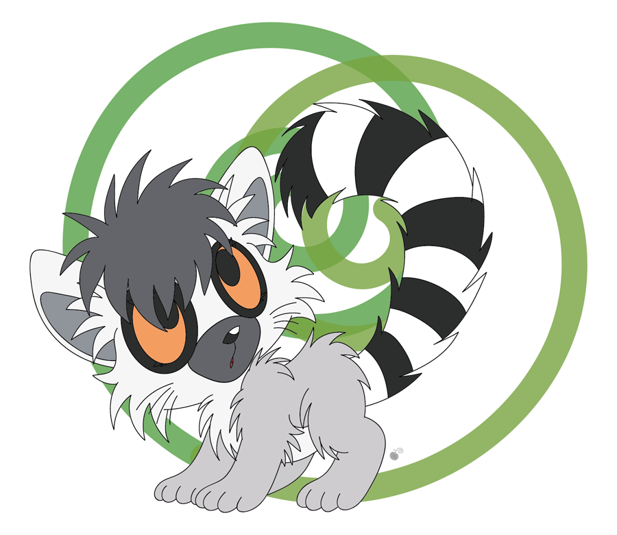how to draw a ring tailed lemur