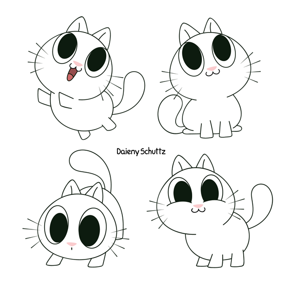 Cute Cat Character by Daieny