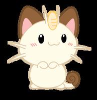 Chibi Meowth by Daieny