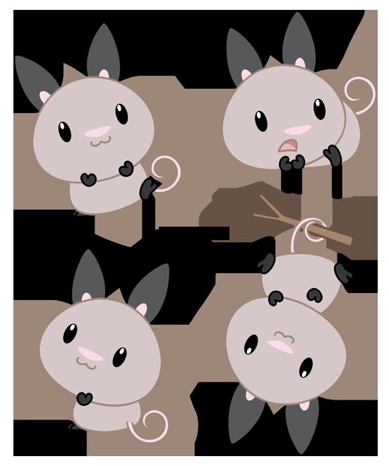 Chibi Big-Eared Opossum by Daieny on DeviantArt