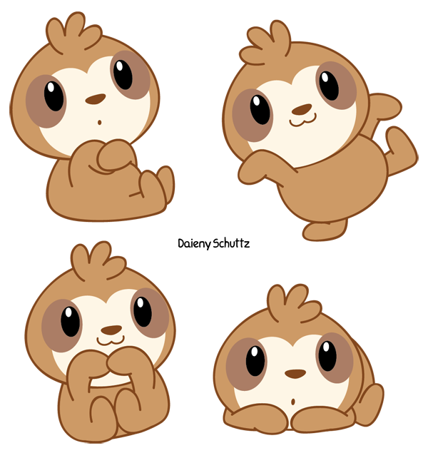 It's just a picture of Irresistible Sloth Drawing Cute