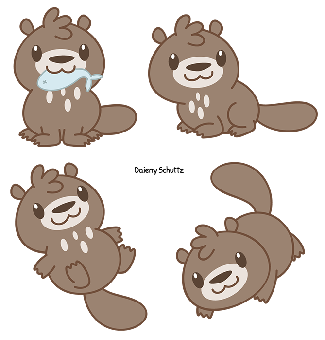Chibi Giant River Otter By Daieny On DeviantArt