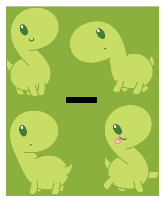 Green Dino by Daieny