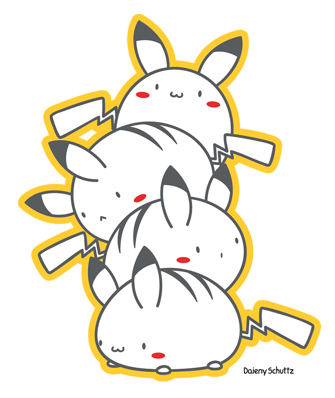 Pikachu Pile by Daieny