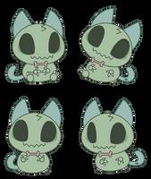Little Zombie Cat by Daieny