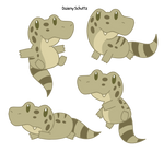 Chibi Broad-snouted Caiman