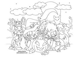 Halloween Lineart For Coloring